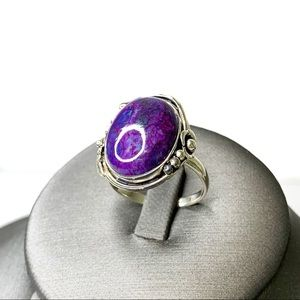 Sterling Silver Mojave Purple Turquoise Ring